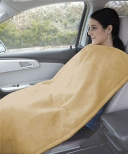 heated travel blanket pillow seat cover