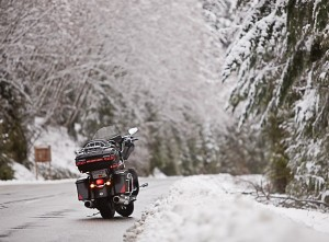 motorcycle snow