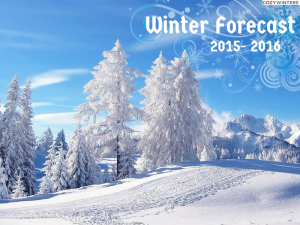 Winter Forecast 2015 2016