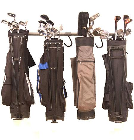 Small Golf Bag Garage Storage Rack, Golf Bag Garage Storage
