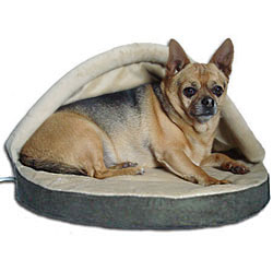 Thermo Doggy Hut Heated Small Dog Bed