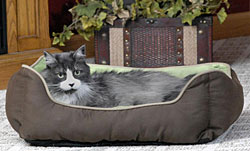 Lounge Sleeper Self-warming Cat Bed Gray/blue