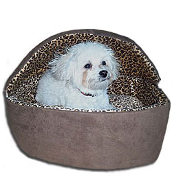 leopard thermo smalldog heated bed - Heated Dog Bed