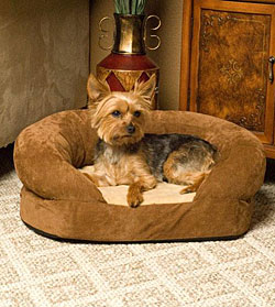 ortho bolster sleeper dog bed - Heated Pet Beds