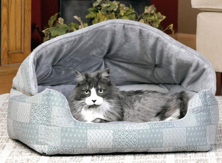 Hooded Cat Bed Cat Sleeper Small Cat Bed Cozywinters