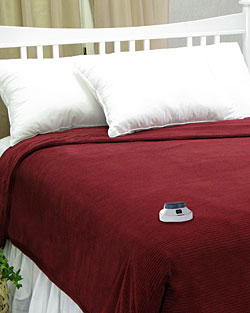 Ribbed MicroFleece Low Voltage Heated Blanket