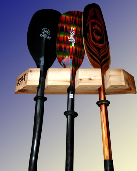RAX Vertical Kayak / Canoe Paddle Racks