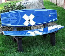 Wakeboard Bench Wakeboard Furniture Cozywinters
