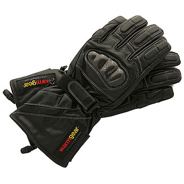 12v Heated Leather Gloves With Carbon Guards, Size Medium WG-HLCG-MD
