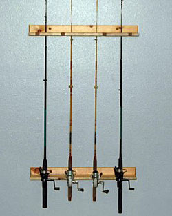 fishing rod storage rack | fishing pole storage, Fishing Reels