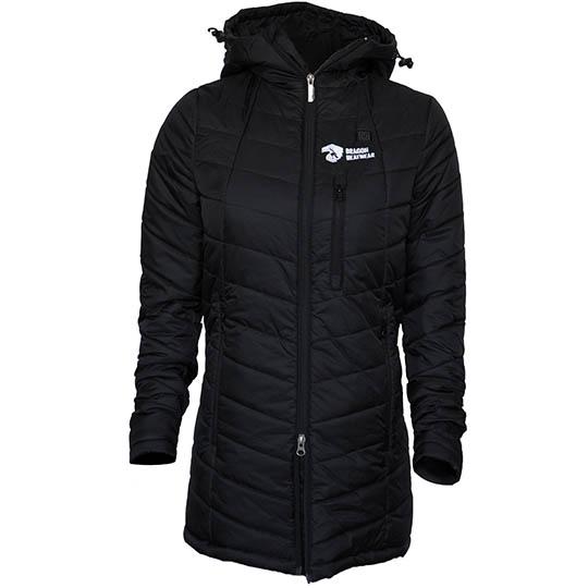 Womens Heated Clothing >> Delphyne Womens 5 Zone Heated Jacket Onyx