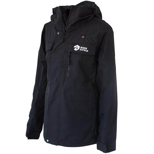 Buy Fang Womens 5 Zone Heated Snowboard Jacket Onyx At