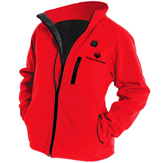 Battery Heated Clothing Heated Coats Clothes Cozywinters >> Wyvern Womens 3 Zone Heated Jacket Crimson