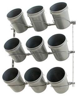 Monkey Bar 9 Bucket Rack