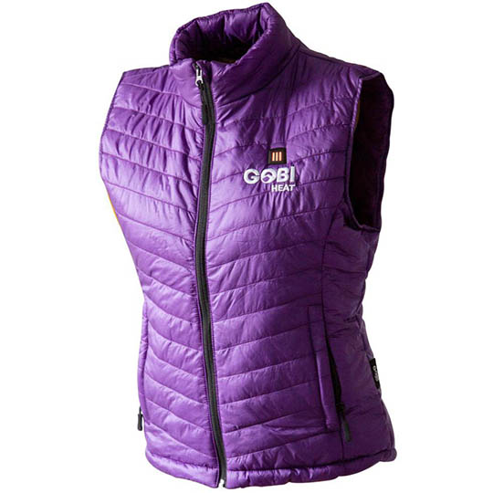 Battery Heated Clothing Heated Coats Clothes Cozywinters >> Dune Womens 3 Zone Heated Vest Plum