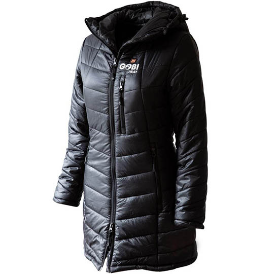 Battery Heated Clothing Heated Coats Clothes Cozywinters >> Victoria Womens 5 Zone Heated Jacket Onyx