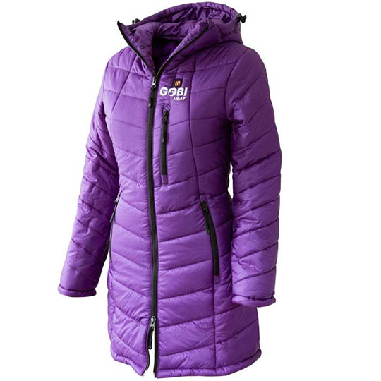 Womens Heated Clothing >> Victoria Womens 5 Zone Heated Jacket Plum