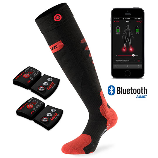 Lenz Battery Heated 5.0 Toe Cap Socks, Xlarge