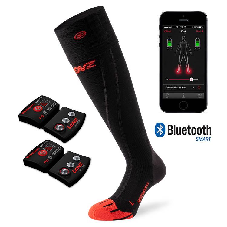 Lenz Battery Heated Toe Cap 6.0 Merino Compression Socks, Xlarge
