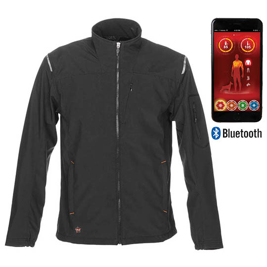 Battery Heated Clothing >> Mobile Warming Alpine Heated Jacket Men S Bluetooth Jacket