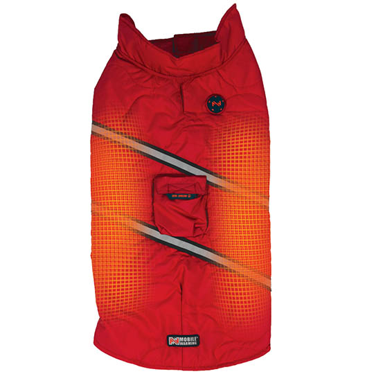 Rover 7v Battery Heated Dog Jacket With Bluetooth, Red, Xxlarge