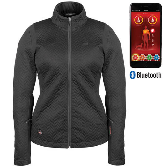 Battery Heated Clothing >> Sierra Women S Battery Heated Jacket With Bluetooth Black