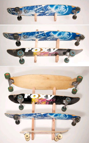 09a2f5ca Buy Redwood Skateboard and Longboard Wall Mounted Racks at CozyWinters