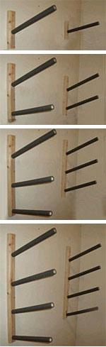 wall mount surfboard display racks