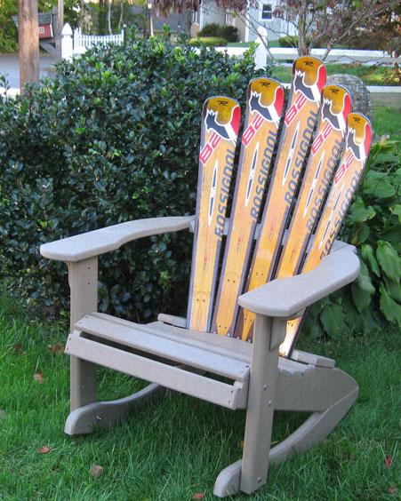 Plastic Rocking Chair Adirondack Ski Chair Cozywinters