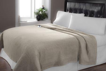 Serta Luxe Electric Blanket Heated Plush Throw