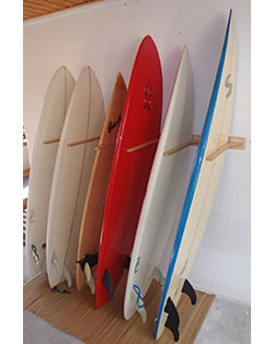 Wooden 6 Surfboard Vertical Storage Rack  sc 1 st  CozyWinters & Vertical Surfboard Rack | Vertical Surfboard Wall Rack