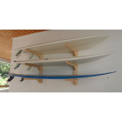 Wooden 3 Board Wall Horizontal Display Rack