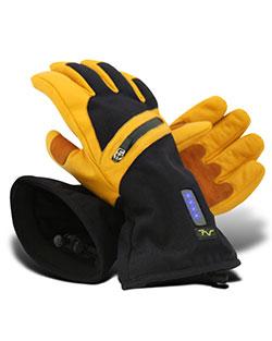 Volt Mens Battery Heated Leather Work Gloves, Size Medium
