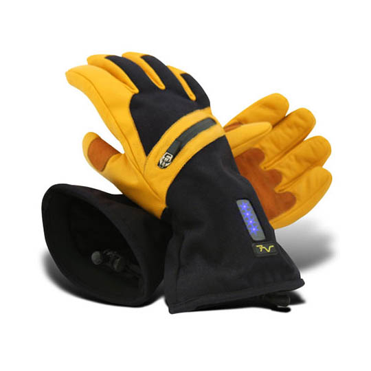 Volt Battery Heated Work Gloves Men S Leather Work Gloves