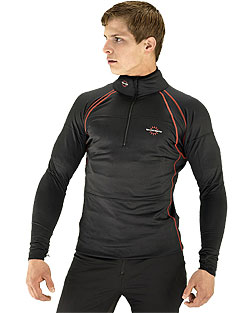 Mens Heated Base Layer Black